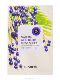 The saem natural acai berry mask sheet 21ml - Маска с экстрактом ягод асаи
