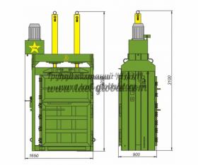 Пресс гидравлический пакетировочный ПГП-30Т