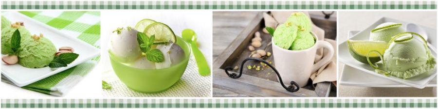 Кухонный фартук AG 15 - Фисташковое мороженное еда