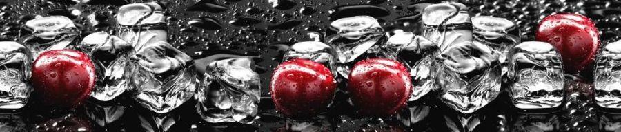 Кухонный фартук ТОР 40 - Вишня и лед