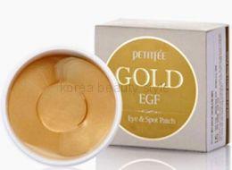 PETITFEE Gold & EGF Eye & Spot Patch (90 штук) -  набор гидрогелевых патчей для кожи вокруг глаз и других проблемных областей  с золотом и олигопептидом EGF (90 штук).