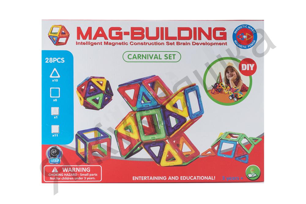 Магнитный конструктор MAG BUILDING из 28 деталей