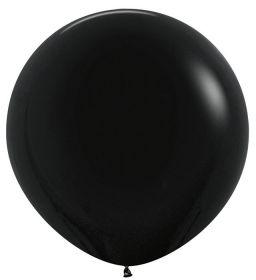 """Шар, чёрный, пастель, 24""""/ 60 см, Колумбия"""