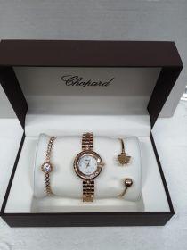 Набор женский: Часы + 2 браслета Chopard