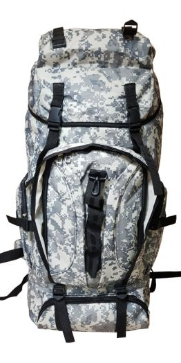 Военно-туристический рюкзак на 85л цвет серый пиксель