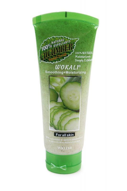 Скраб для лица Wokali Smoothing moisturising огурец