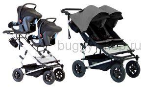 Duet  (Дует), Детская коляска для новорожденной двойни Mountain Buggy Duet с автолюльками Maxi Cosi