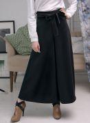 черная широкая юбка-брюки