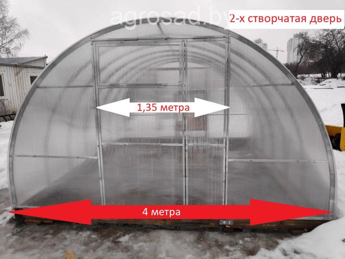 Теплица Сибирская двустворчатая - 10 м (труба 40х20, шаг 1 метра)