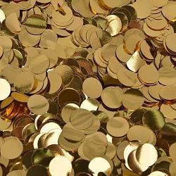 Конфетти фольга, кружки, золото, 50 гр, 1 см