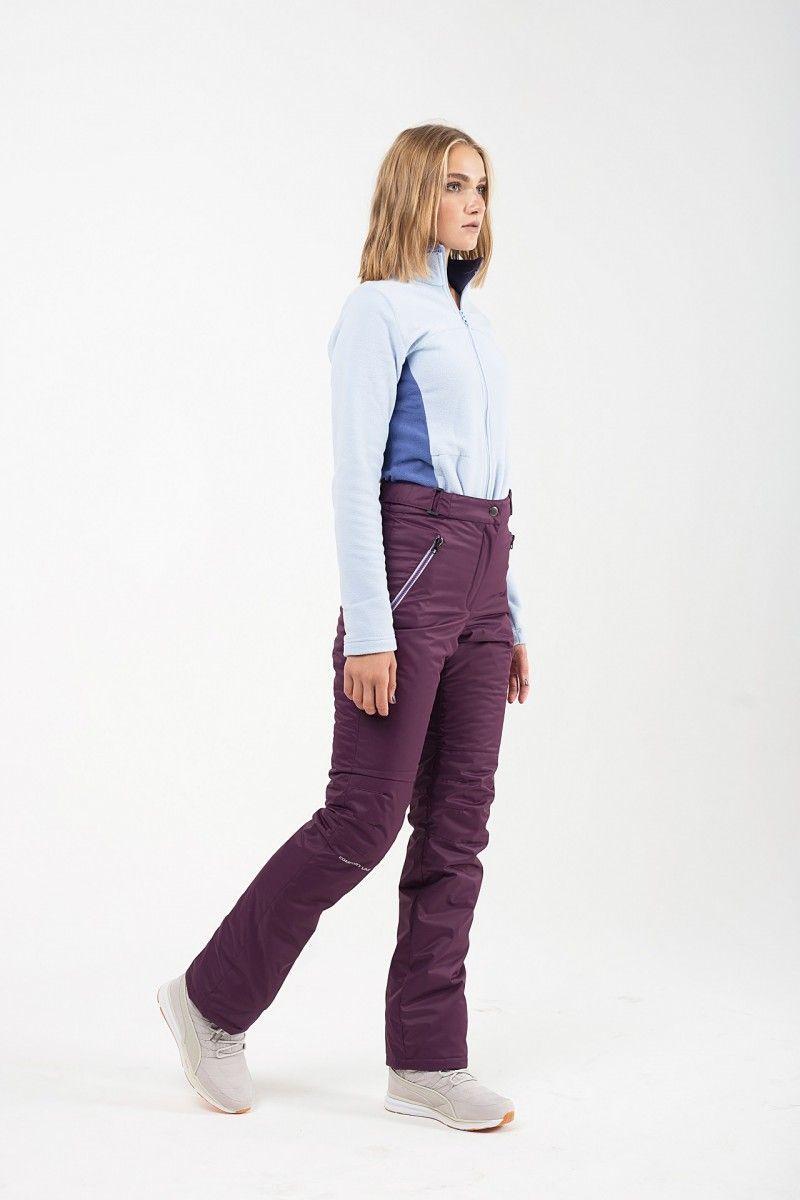 Утепленные женские брюки мембрана темно фиолетовый HEIDEN вид3