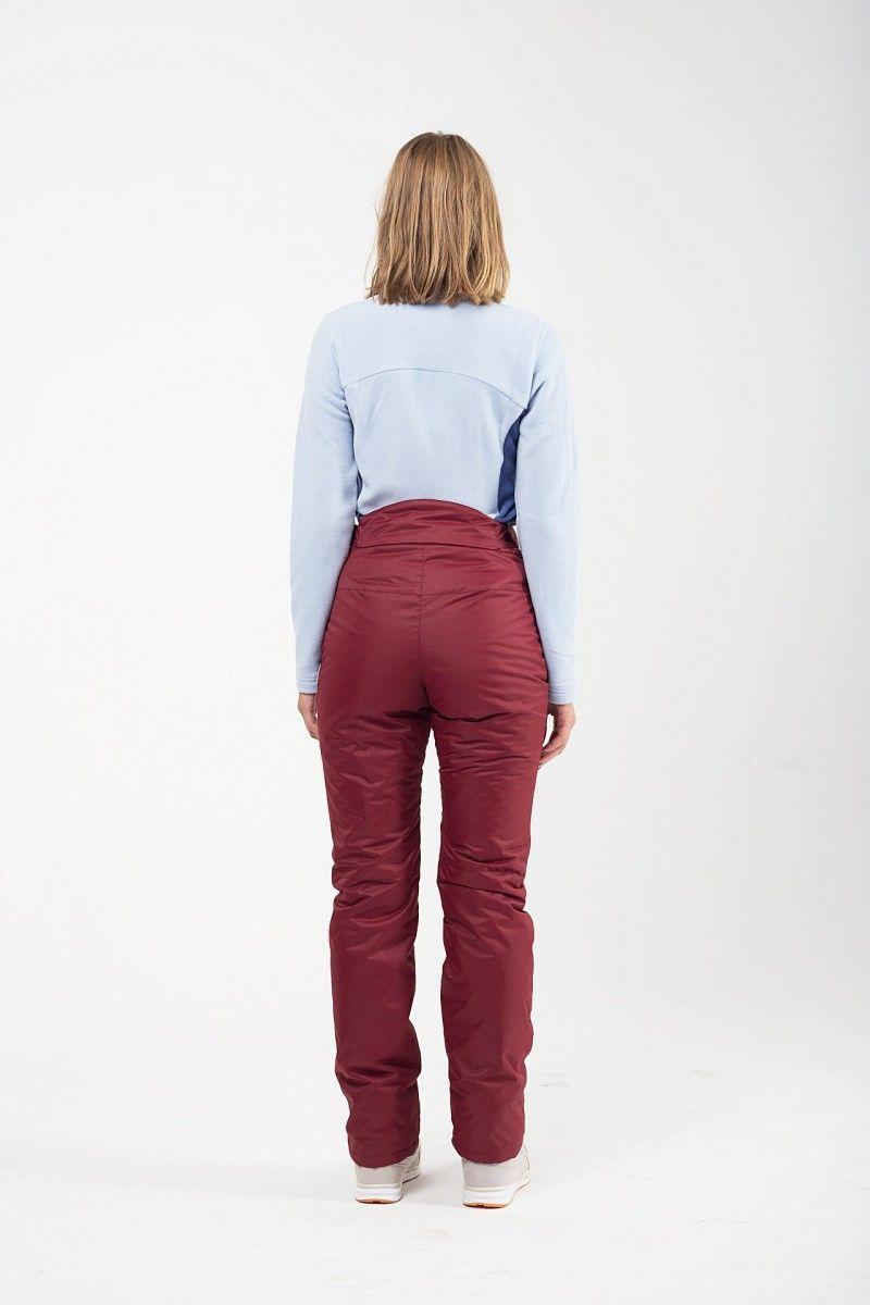 Утепленные женские брюки мембрана бордо HEIDEN вид4