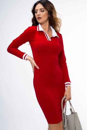 Платье-3662 Красное
