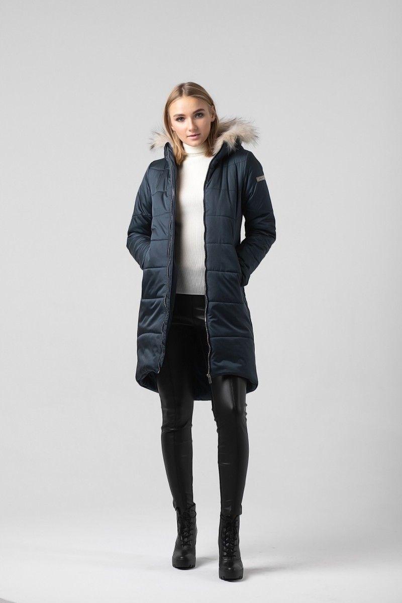Пальто женское HEIDEN цвет темно синее вид2
