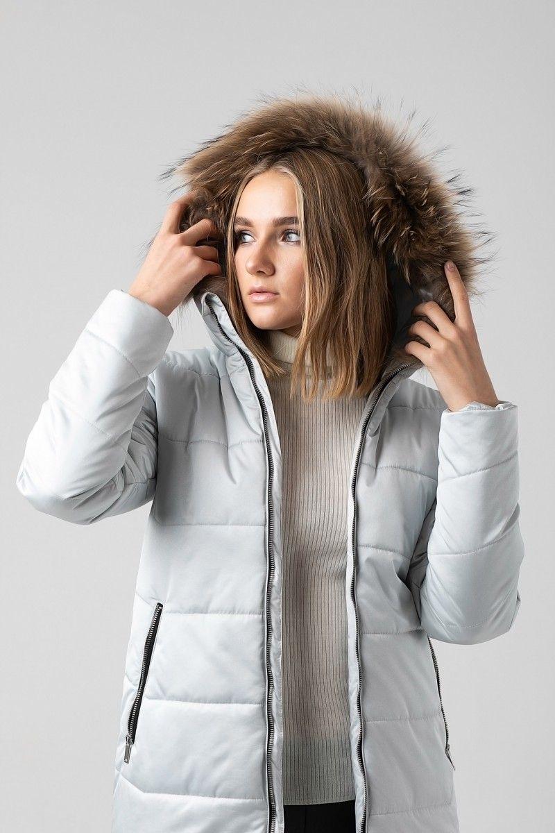 Пальто женское HEIDEN цвет серебро вид4