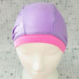 Сереневая Текстильная шапочка для плавания