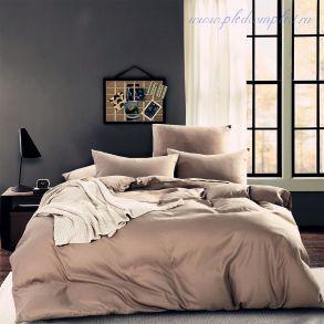 Комплект постельного белья однотонный Бежевый