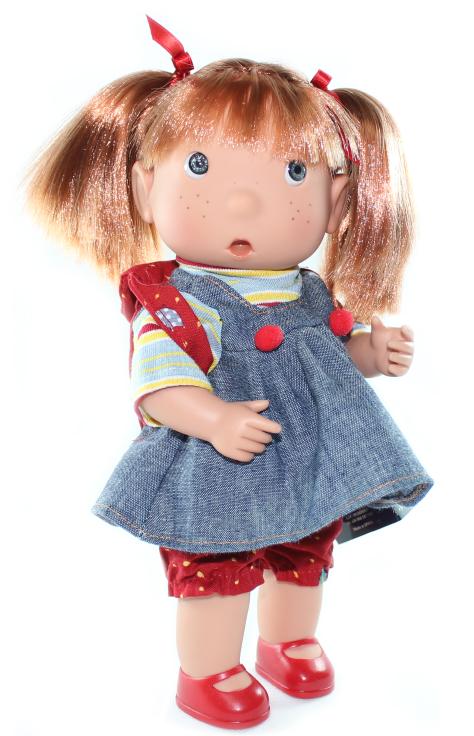 Кукла Тилина в джинсовом сарафане