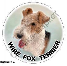 Фокс терьер жесткошерстный наклейка Великобритания