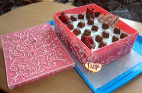 п.Луостари Мурманской обл. Тася торт Коробка-сладкое поздравление.