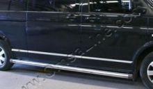 Молдинги боковые, Omsaline, 7 частей, длинная база, нерж. сталь