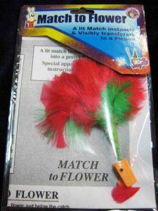 Спичка в цветок