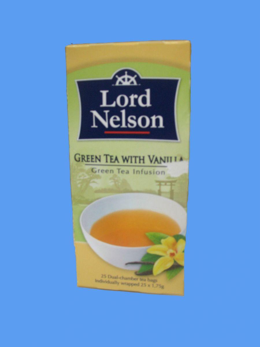Чай Lord Nelson (зеленый с ванилью) 25 пак
