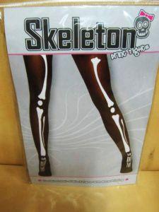 Колготки черные с костями