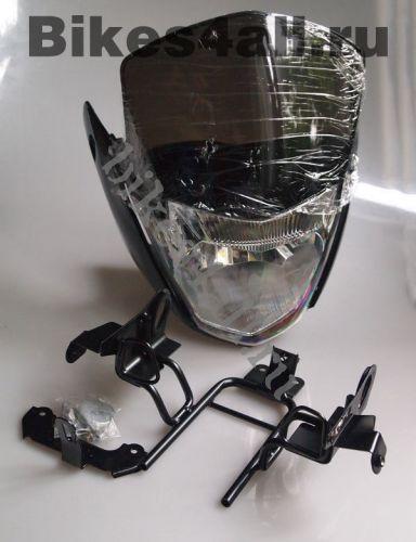 Пластик передний Оптимус Прайм YBR 125 черный