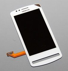 LCD (Дисплей) Nokia 700 (в сборе с тачскрином) (white) Оригинал