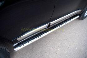 Пороги труба 120х60 мм овальные (TLCT-000515) для Toyota Land Cruiser 200 2012