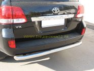 Защита заднего бампера 76 мм дуга (LCZ-000202) для Toyota Land Cruiser 200 2012