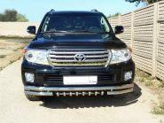 Защита переднего бампера 60х60 мм  Акула  (LC12-01) для Toyota Land Cruiser 200 2012