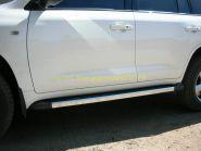 Накладка на штатный порог  (LC12-05) для Toyota Land Cruiser 200 2008