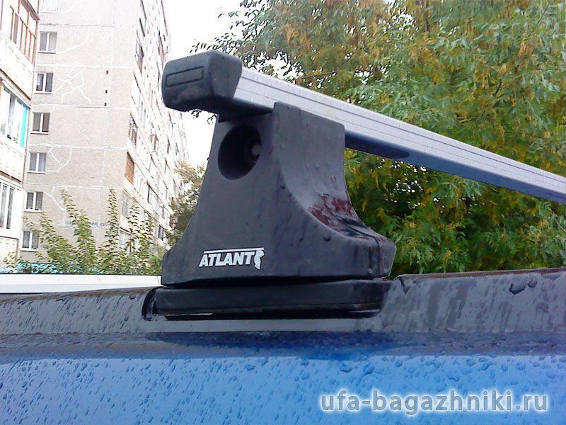 Багажник на крышу Nissan X-Trail, Атлант, прямоугольные дуги
