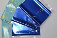 Фольга для дизайна ногтей, литья (переводная). Цвет: синий (широкая - 7 см на 1 метр)