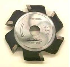 Фреза V-образная, пазовая, дисковая HW 118x14-90°/Alu Festool