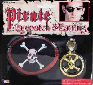 Повязка пирата с большой серьгой
