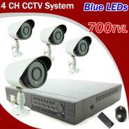 Комплект Видеонаблюдения 4 камеры 700твл + видеорегистратор