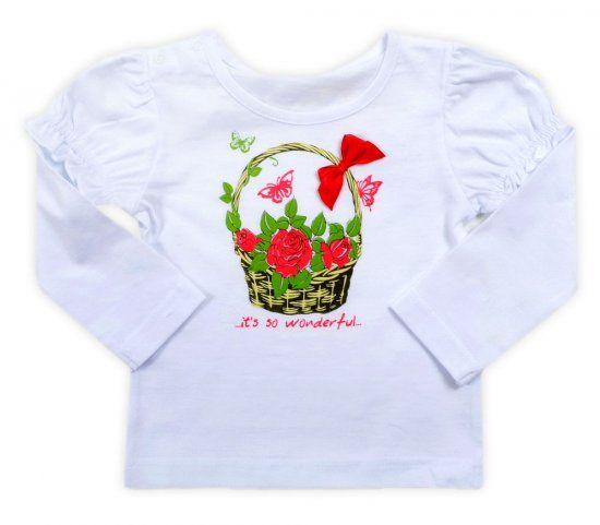 Белая кофта для девочки Цветы