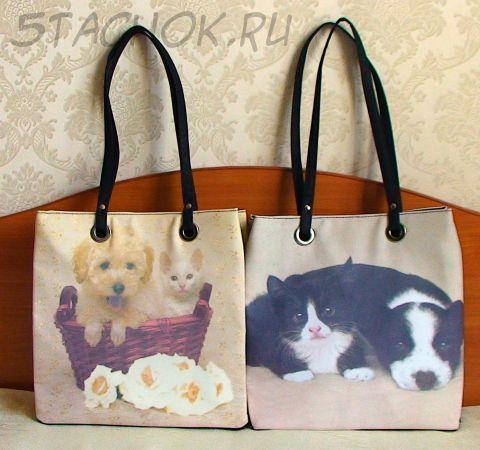 """Две сумочки """"Котенок и щенок"""" (Китай-Великобритания)"""