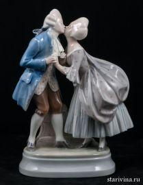 Романтическая пара в стиле рококо. Royal Copenhagen, Дания