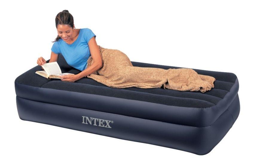 Кровать с подголовником Intex 66706 односпальная