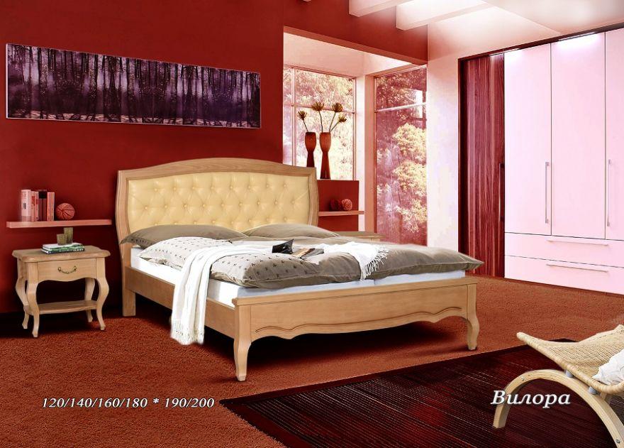 Кровать Вилора (кожа) | Альянс XXI век