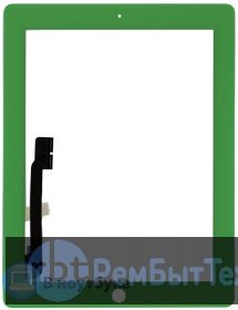 Сенсорное стекло (touchscreen) для Ipad 3 зеленое