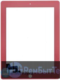 Сенсорное стекло (touchscreen) для Ipad 2 розовое