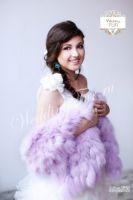 Свадебный палантин меховой из меха для невесты купить Москва фото