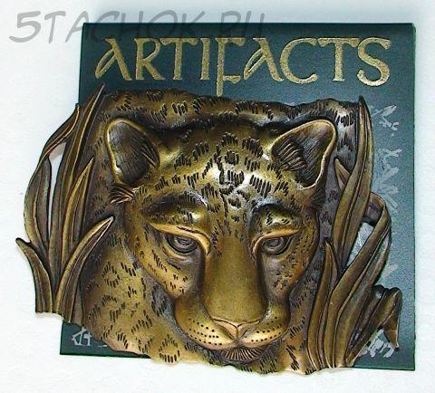 """Брошь """"Леопард"""" под античное золото"""