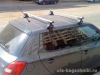 Багажник на крышу Skoda Fabia, Атлант, аэродинамические дуги