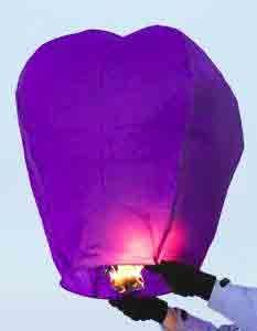 Китайский фонарик (фиолетовый)